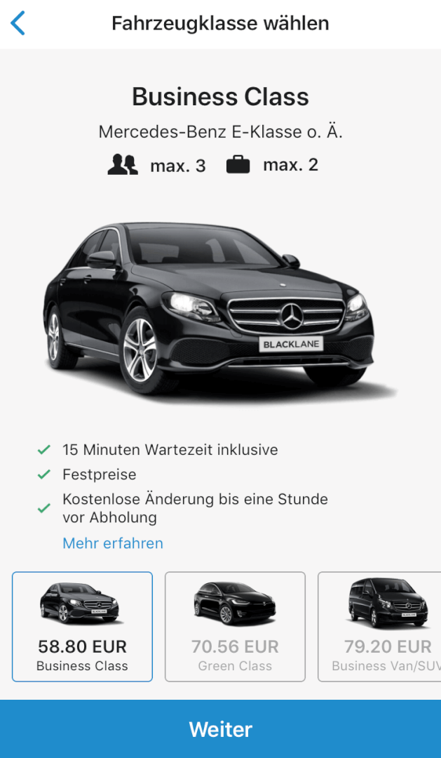 Beste Taxi App Vergleich   Blacklane