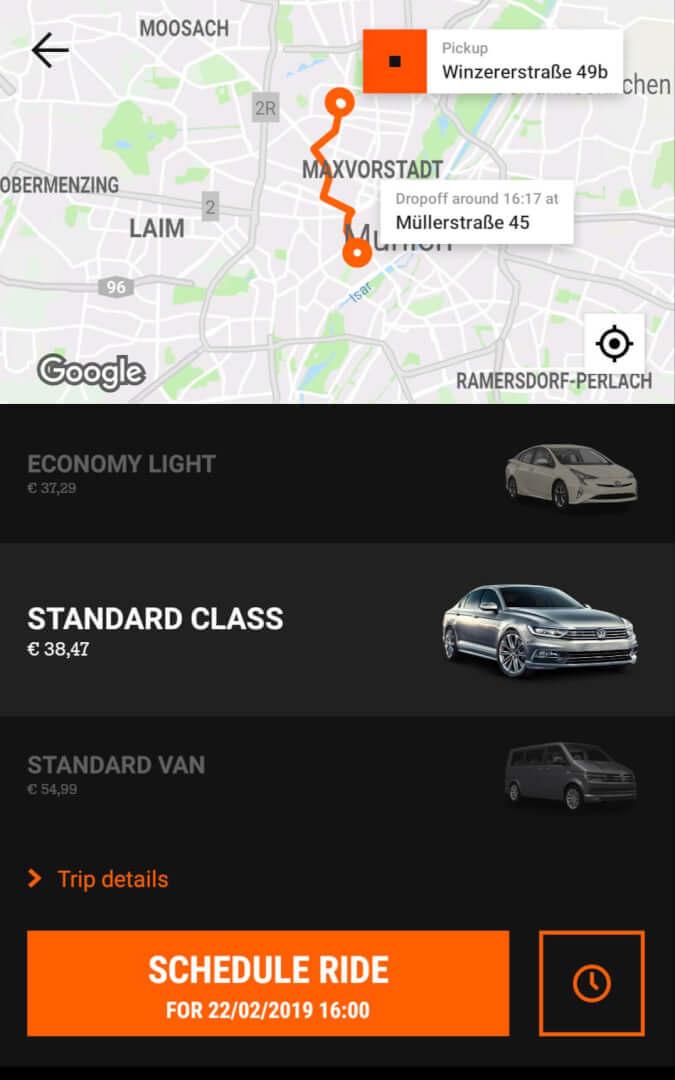Beste Taxi App Vergleich   Sixt Mydriver