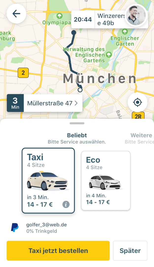 Beste Taxi App Vergleich   mytaxi