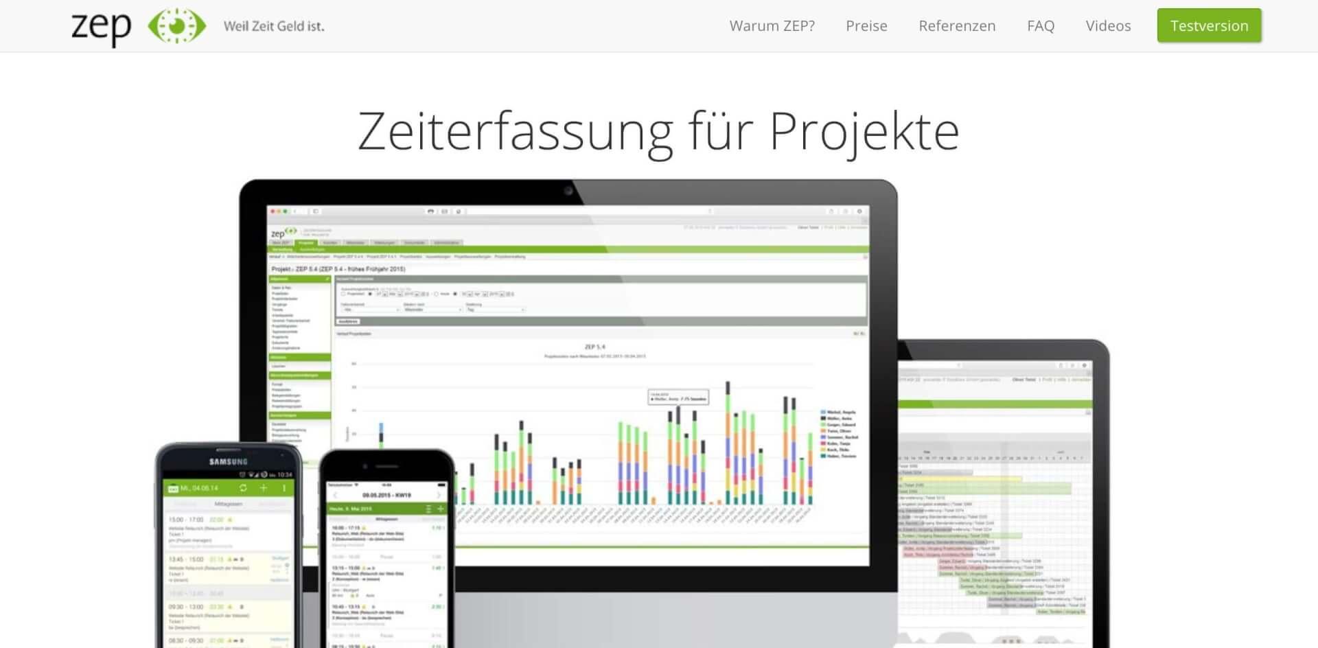 Projektzeiterfassung ZEP ZeitErfassung fuer Projekte 1