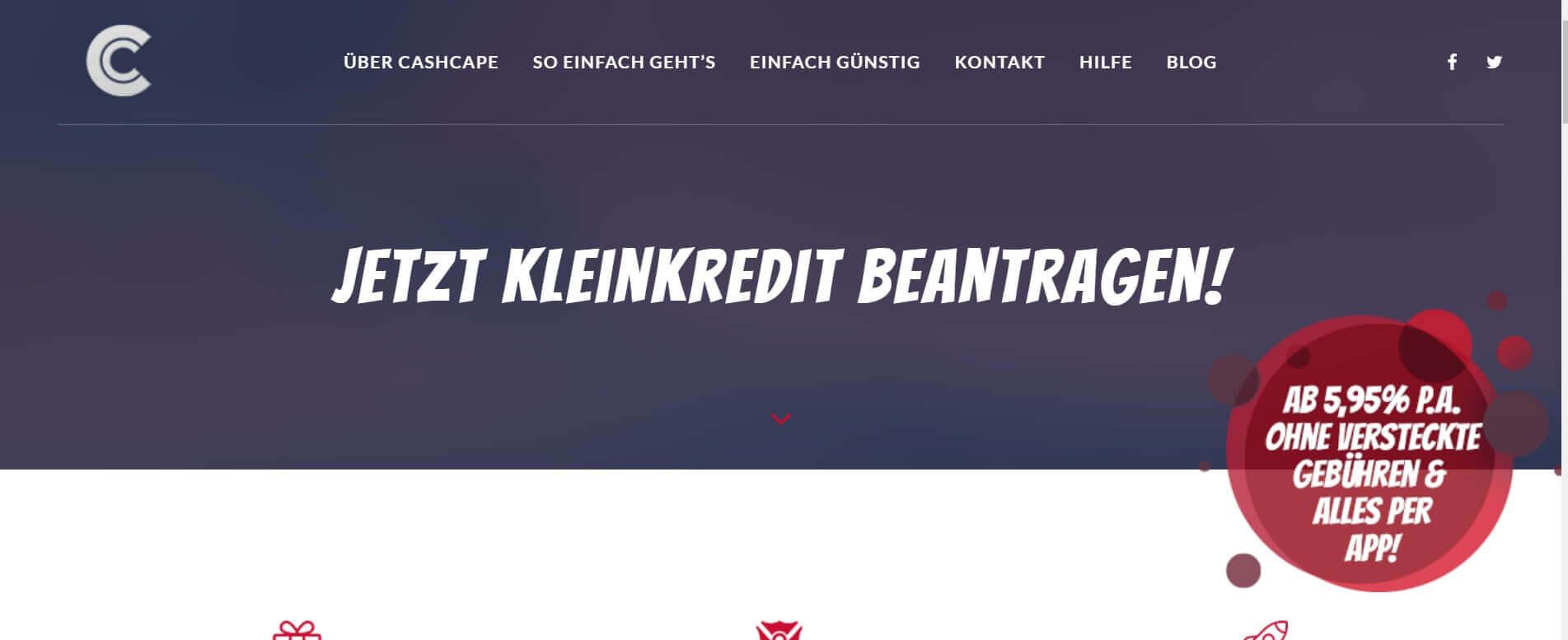 Kleinkredit online CashCape