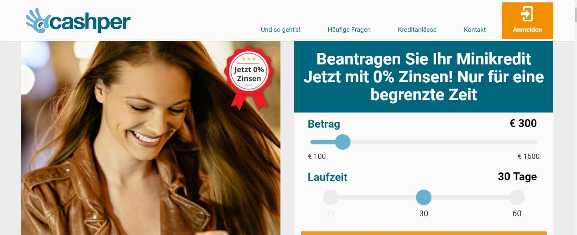 Kleinkredit online Cashper