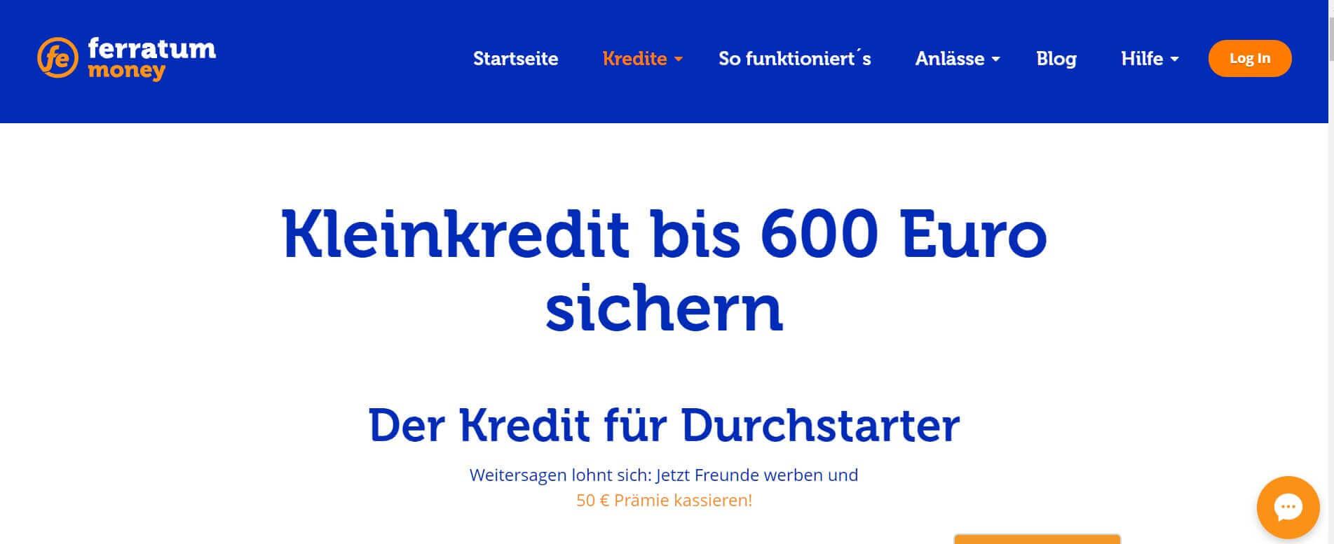 Kleinkredit online Ferratum