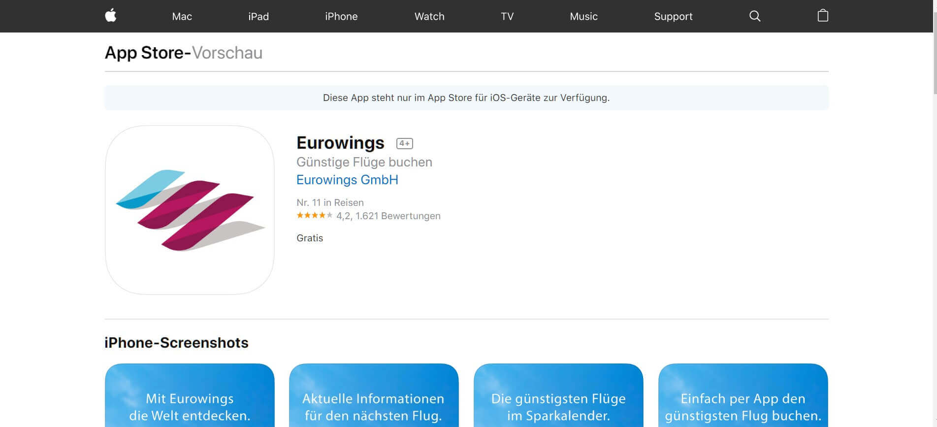 Check in App Eurowings 1
