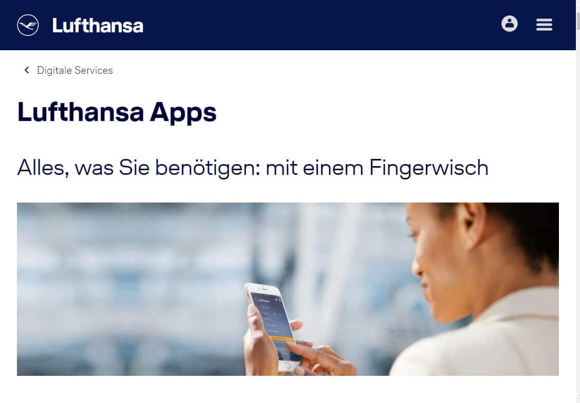 Check in App Lufthansa 1