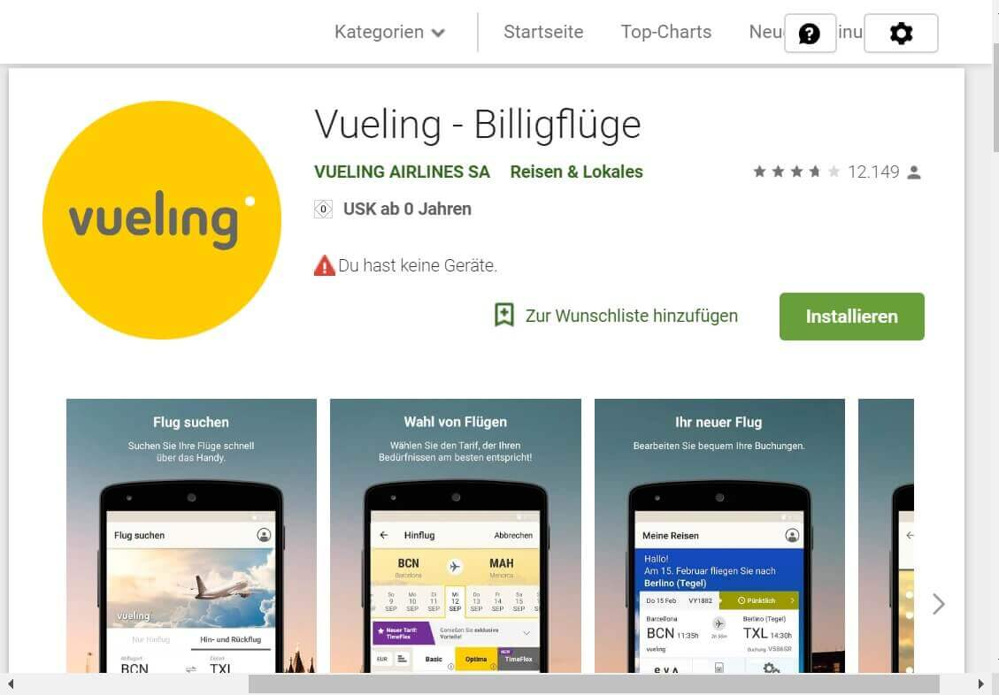 Check in App Vueling