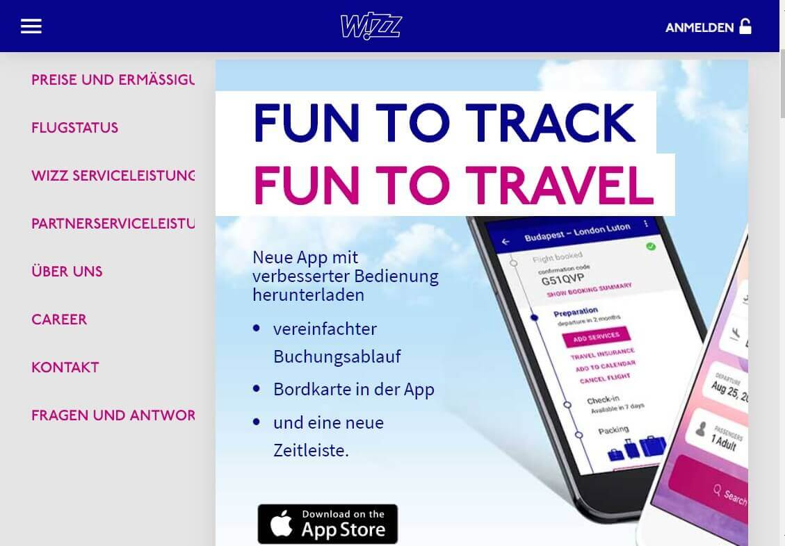 Check in App Wizz Air