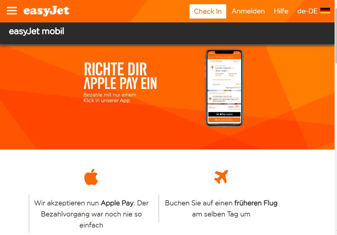 Check in App easyJet