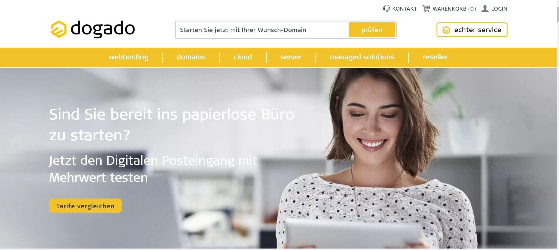 Digitaler Briefkasten REISSWOLF und dogado