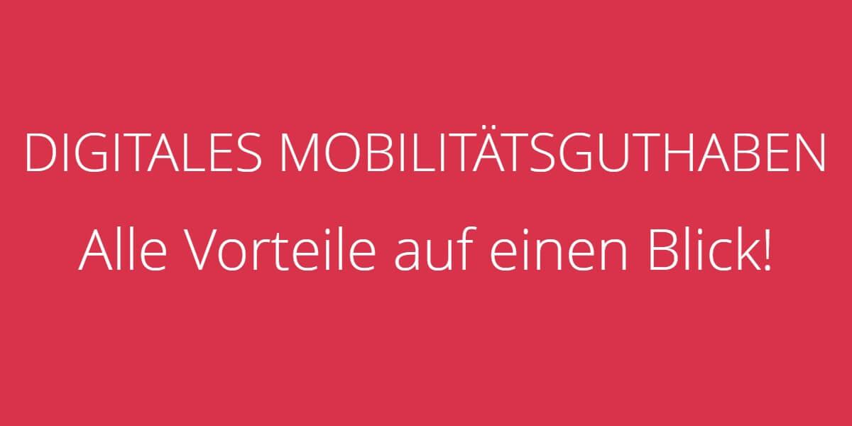 Digitales Mobilitaetsguthaben Vorteile