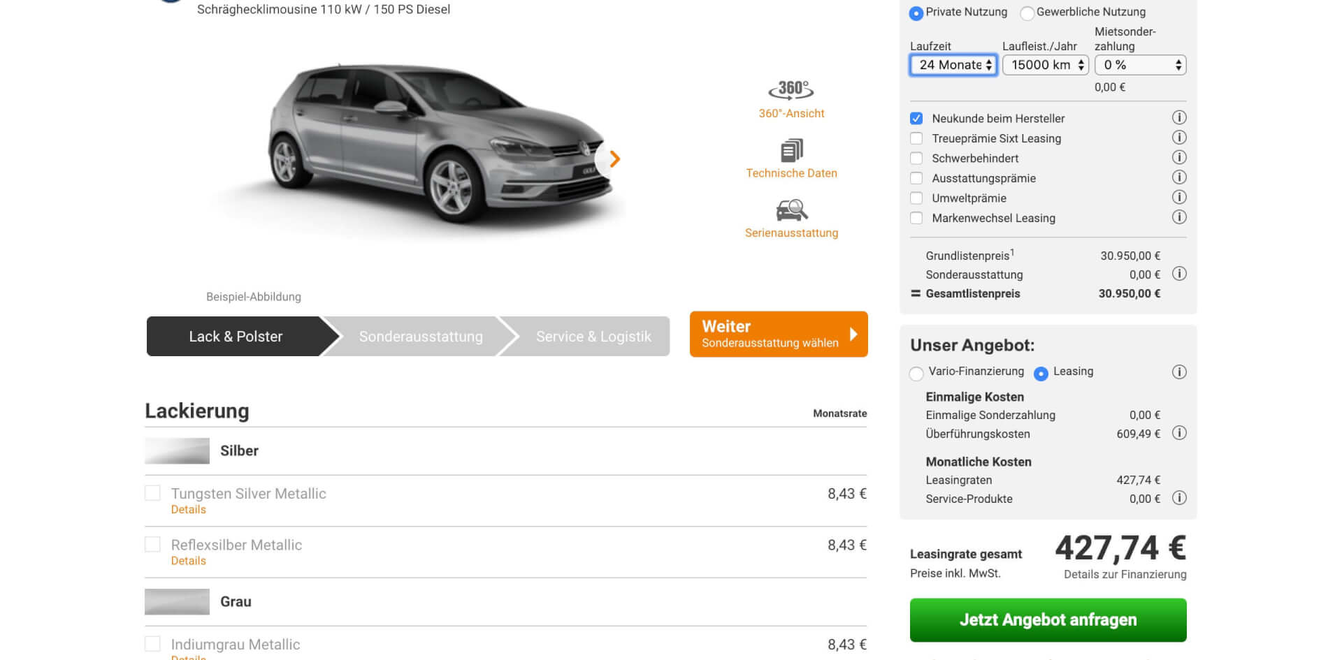 Auto Abo vs Leasing Vergleich 1