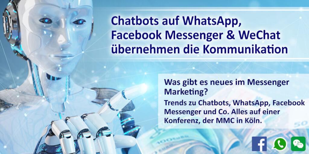 Chatbots auf WhatsApp, Facebook-Messenger & WeChat übernehmen die Kommunikation