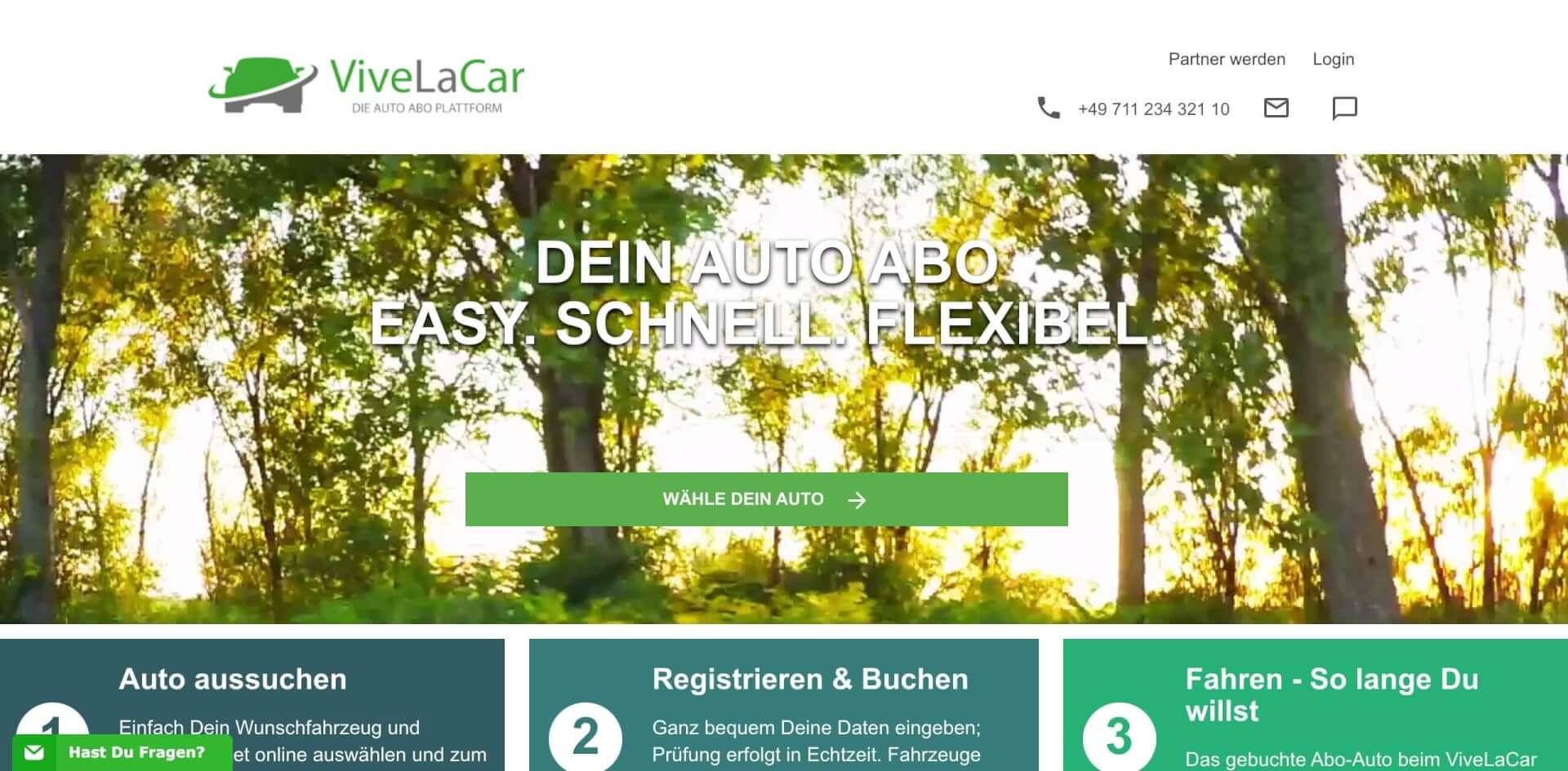 ViveLaCar   Die Auto Abo Plattform Startseite 1