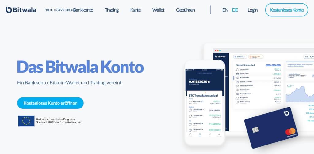 Bitwala Krypto Bankkonto Fintech Bank 1