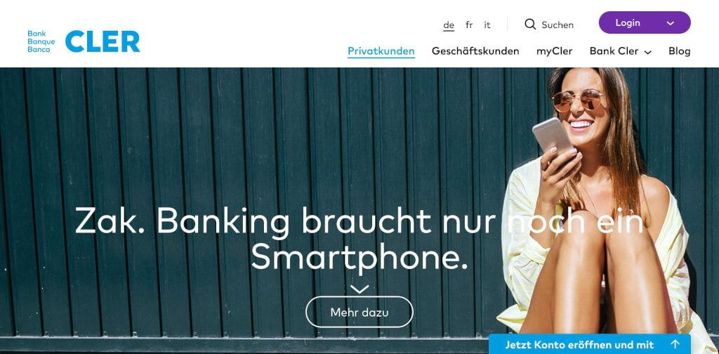Cler Bank Fintech Konto