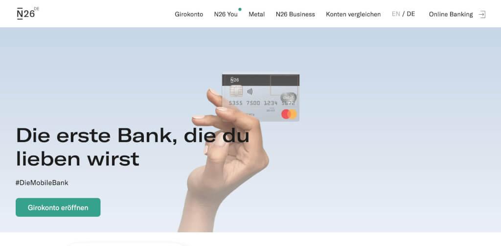 Die mobile Bank N26 Deutschland   fintech banken vergleich