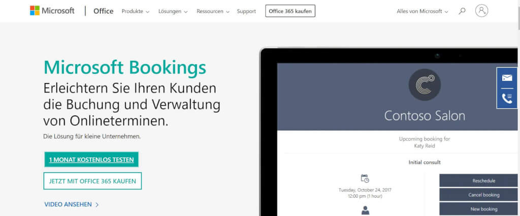 Digital Termin vereinbaren Microsoft Bookings