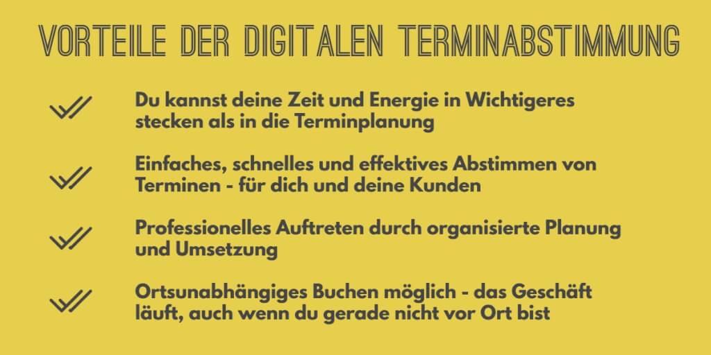 Digital Termin vereinbaren Vorteile