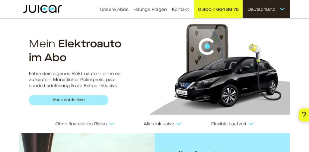 Juicar   Mein Elektroauto im Abo Mit Juicar abonnierst du ganz einfach und flexibel dein Elektroauto zum monatlichen Paketpreis 1