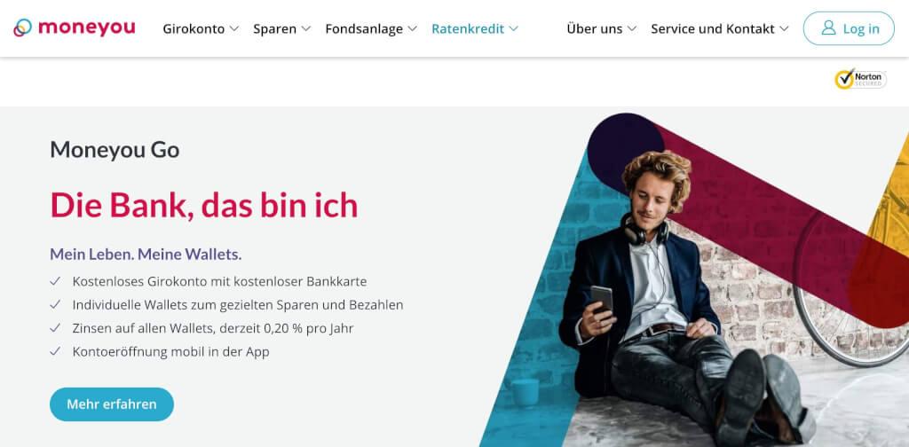 Moneyou smartphone griokonto fintech bank