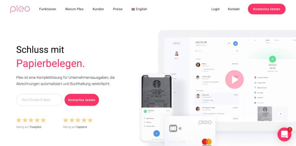 Pleo Firmenkreditkarte   FinTech Unternehmen