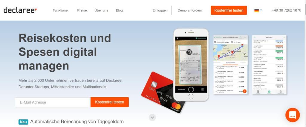 Reisekostenabrechnung digitalisieren Declaree