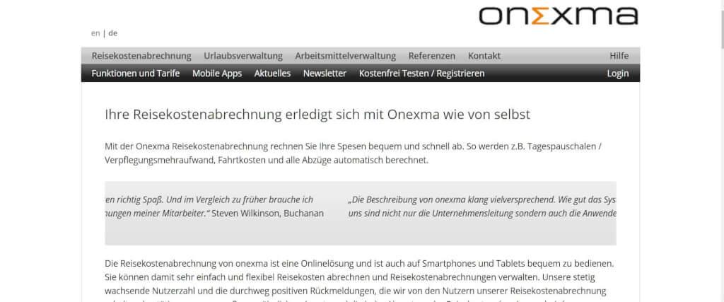 Reisekostenabrechnung digitalisieren Onexma