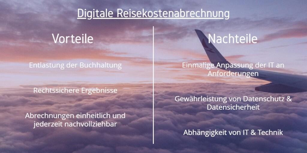 Reisekostenabrechnung digitalisieren Vorteile Nachteile