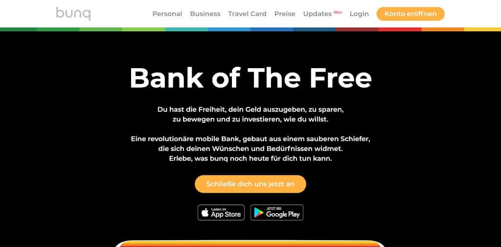 bunq Fintech Bankkonto