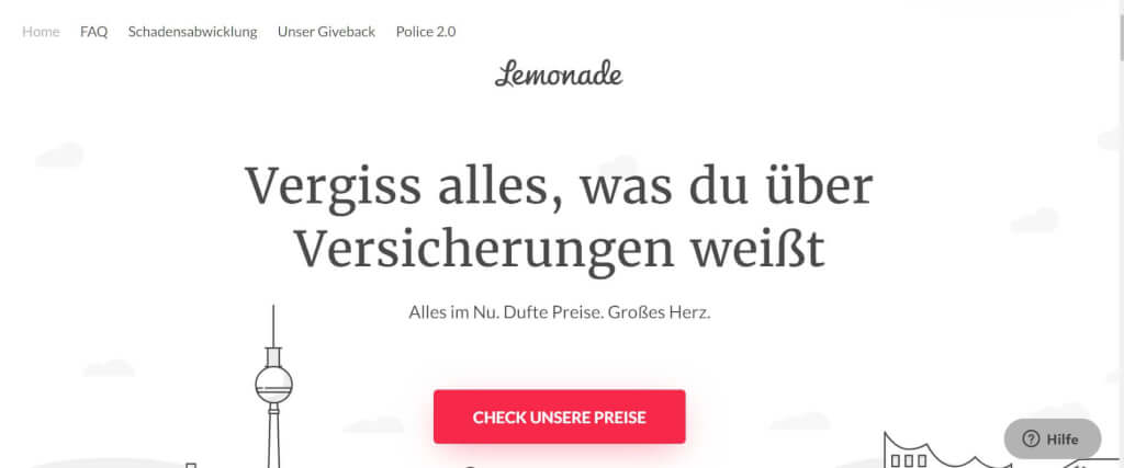 Digitale Versicherung Lemonade