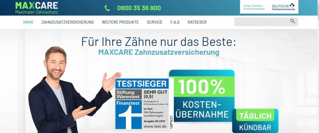Digitale Versicherung MAXCARE