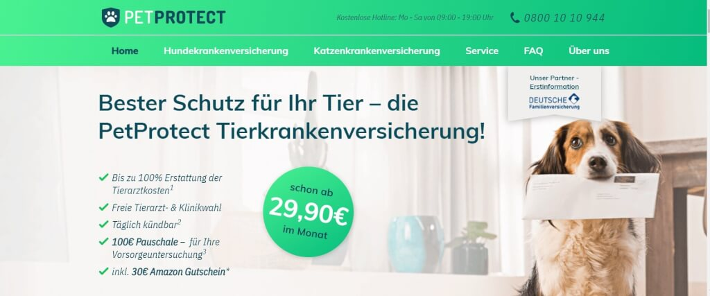 Digitale Versicherung PETPROTECT