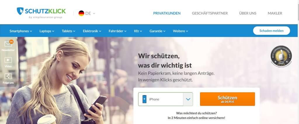 Digitale Versicherung Schutzklick