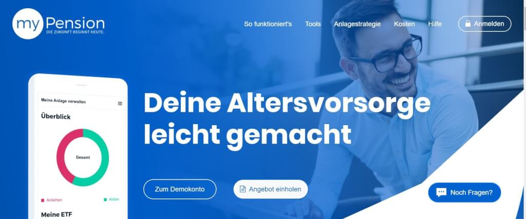 Digitale Versicherung myPension