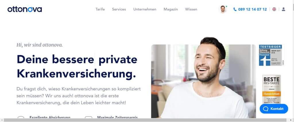 Digitale Versicherung ottonova