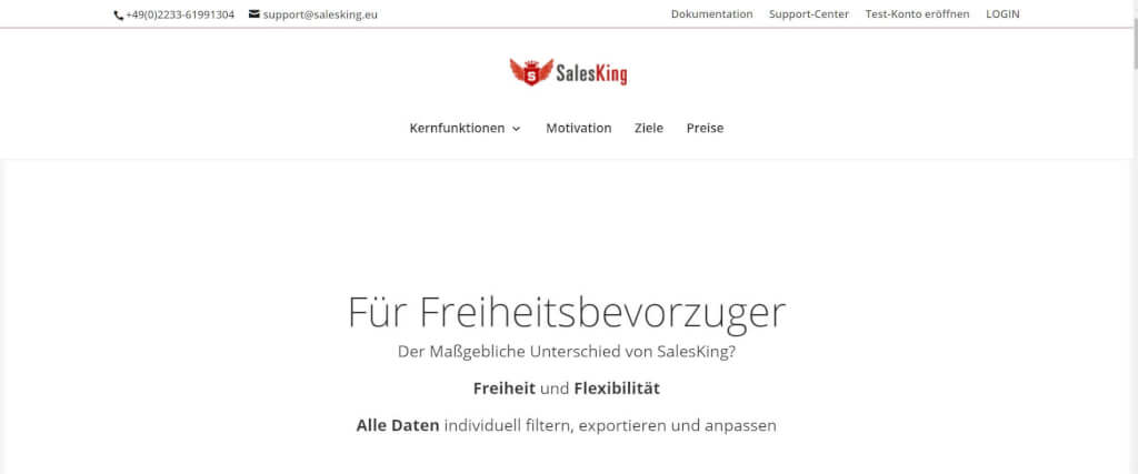 Rechnungsprogramm Selbstaendige SalesKing