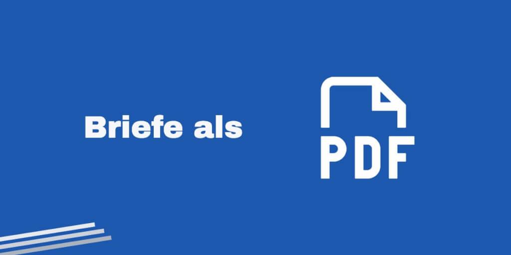 Briefe als PDF   Digitaler Briefkasten