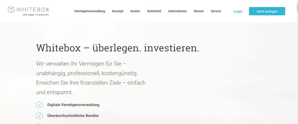 Digitale Vermoegensverwaltung Whitebox