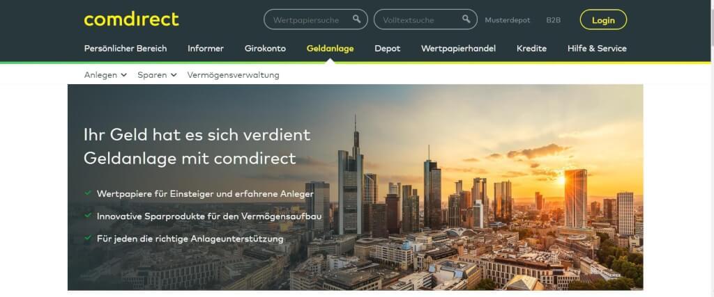 Digitale Vermoegensverwaltung comdirect