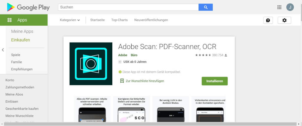 Scan Apps Adobe Scan PDF Scanner