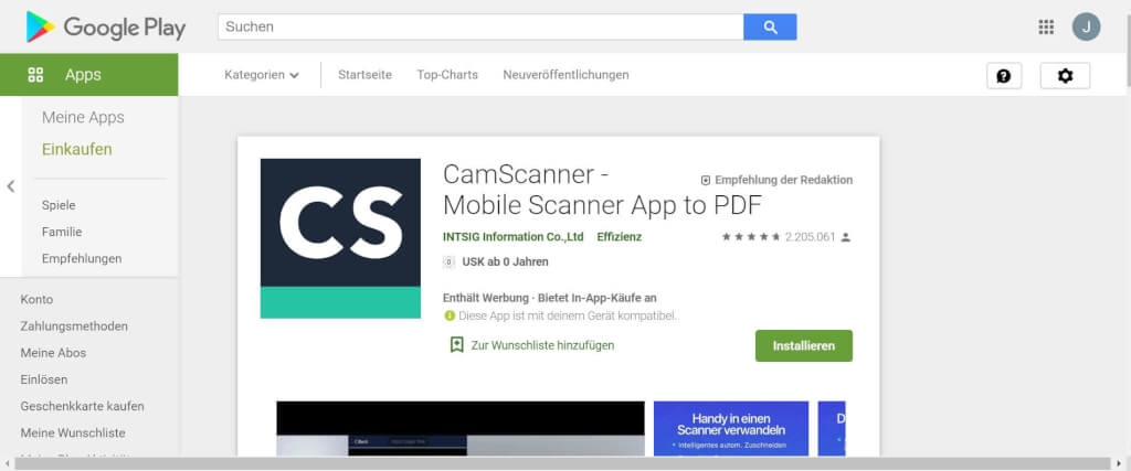 Scan Apps CamScanner