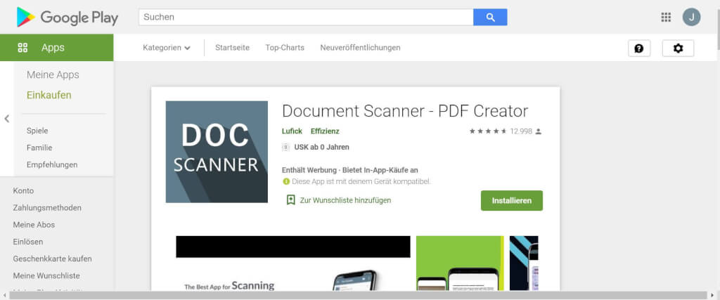 Scan Apps Document Scanner   PDF Creator