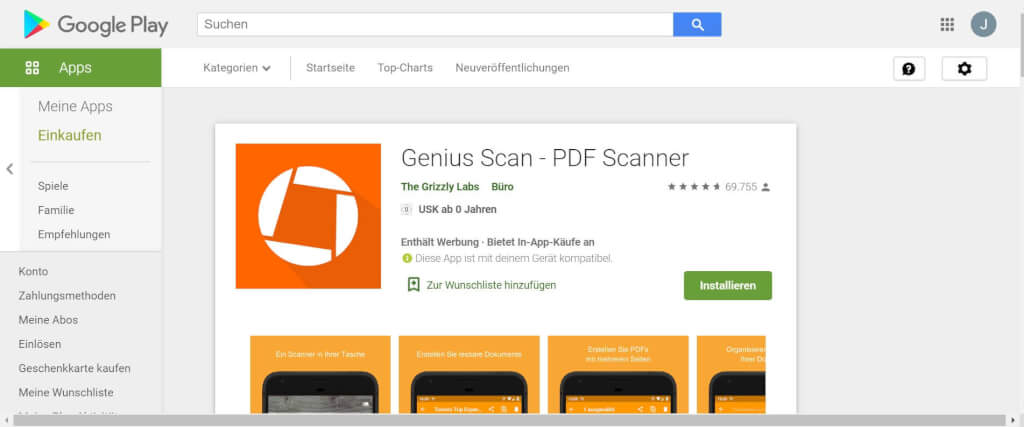 Scan Apps Genius Scan Google play