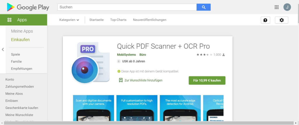 Scan Apps Quick PDF Scanner