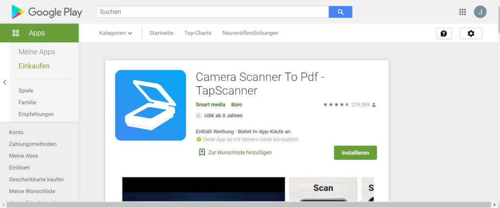 Scan Apps TapScanner Google Play