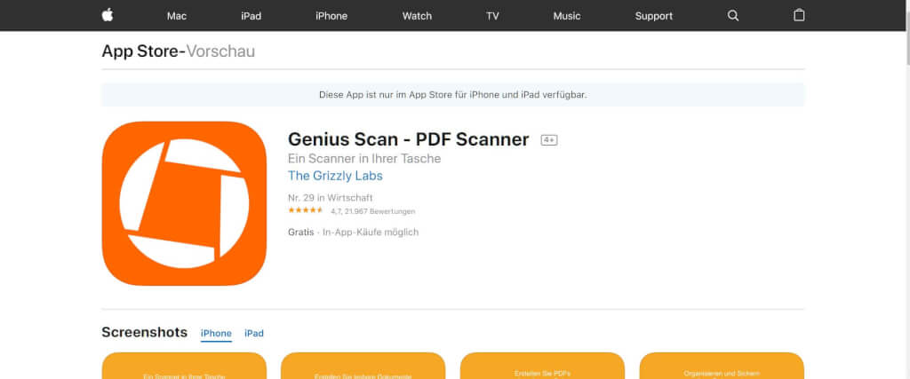 Scan Apps Genius Scan App Store