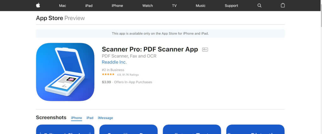 Scan Apps Scanner Pro App Store