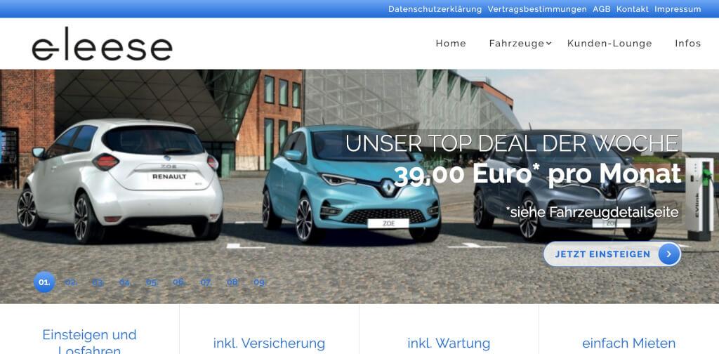 Eleese jetzt   E Auto Abonnement Digital Affin