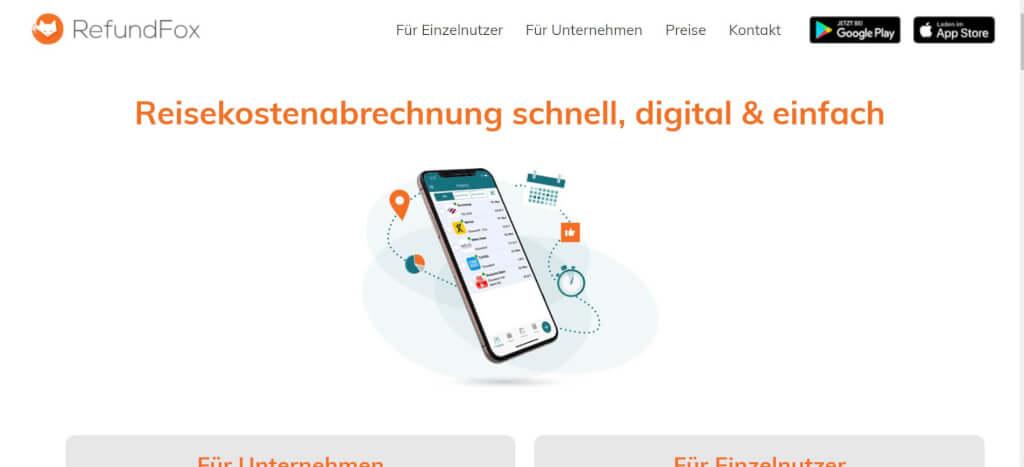 Reisekostenabrechnung digitalisieren RefundFox