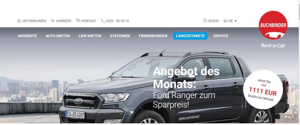 Auto Abo Langzeitmiete Buchbinder